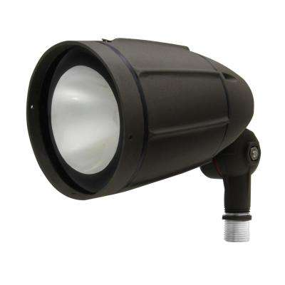 30-Watt Bronze Outdoor Integrated LED Landscape Weatherproof Bullet Flood Light