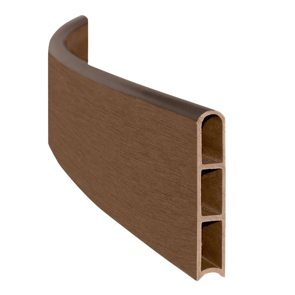 1 in. Series Uptown Brown Composite Curved Board