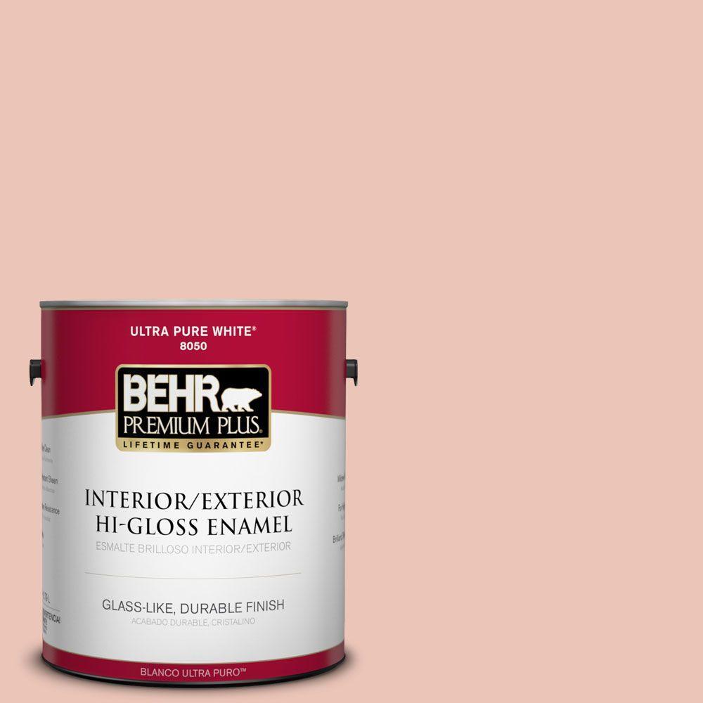 BEHR Premium Plus Home Decorators Collection 1-gal. #HDC-CT-14 Coral Coast Hi-Gloss Enamel Interior/Exterior Paint
