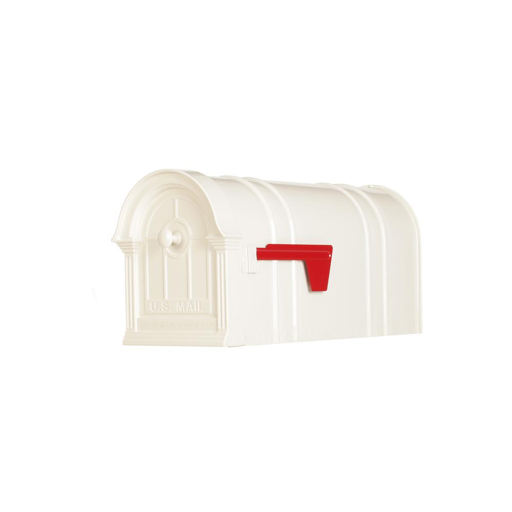 Postal Pro Manchester Steel and Aluminum White Post Mount Mailbox