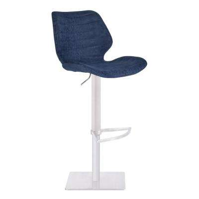 44 in. Falcon Blue Adjustable Bar Stool