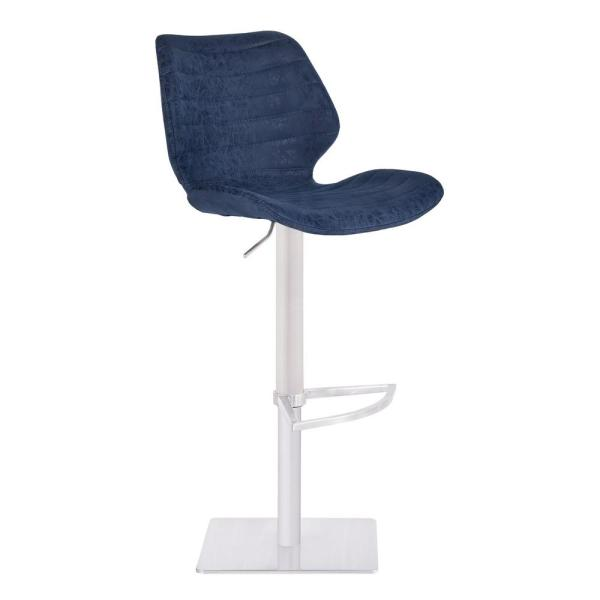 Armen Living 44 in. Falcon Blue Adjustable Bar Stool LCFNBAVBUBS