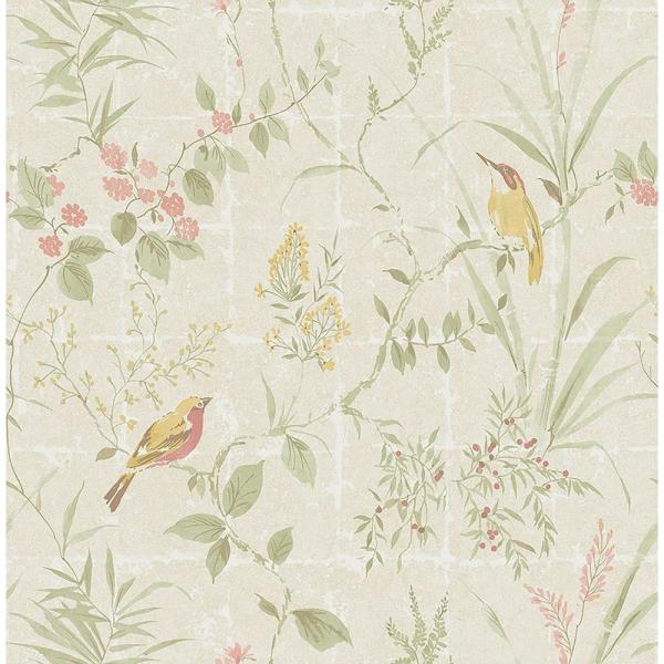 Beacon House Imperial Cream Garden Chinoiserie Wallpaper 2669