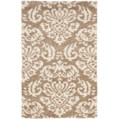 Florida Shag Beige/Cream 3 ft. x 5 ft. Area Rug