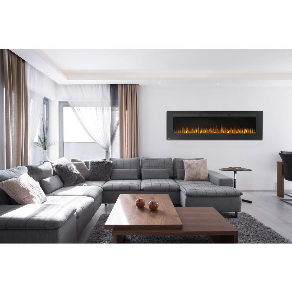 NAPOLEON 72 in. Wall-Mount Linear Electric Fireplace in Black ...