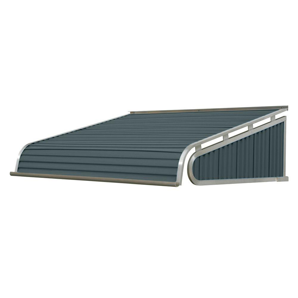 NuImage Awnings 3 ft. 1500 Series Door Canopy Aluminum Awning (12 in. H x 42 in. D) in Slate Blue