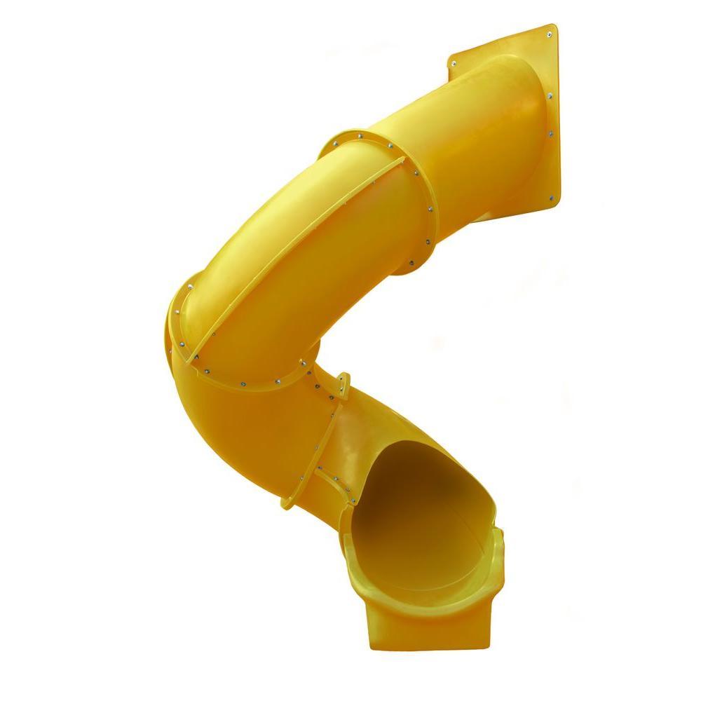 Gorilla Playsets Yellow Super Tube Slide, Yellows/Golds