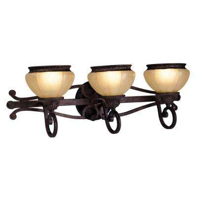 Providence 3-Light Rustic Copper Incandescent Wall Vanity