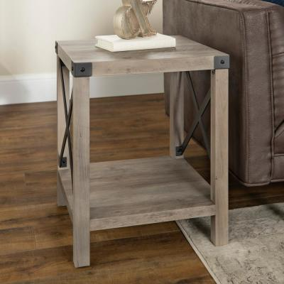 Surprising Gray End Tables Accent Tables The Home Depot Bralicious Painted Fabric Chair Ideas Braliciousco