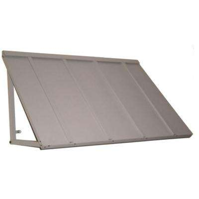 5.6 ft. Houstonian Metal Standing Seam Awning (68 in. W x 24 in. H x 36 in. D) in Dove Gray