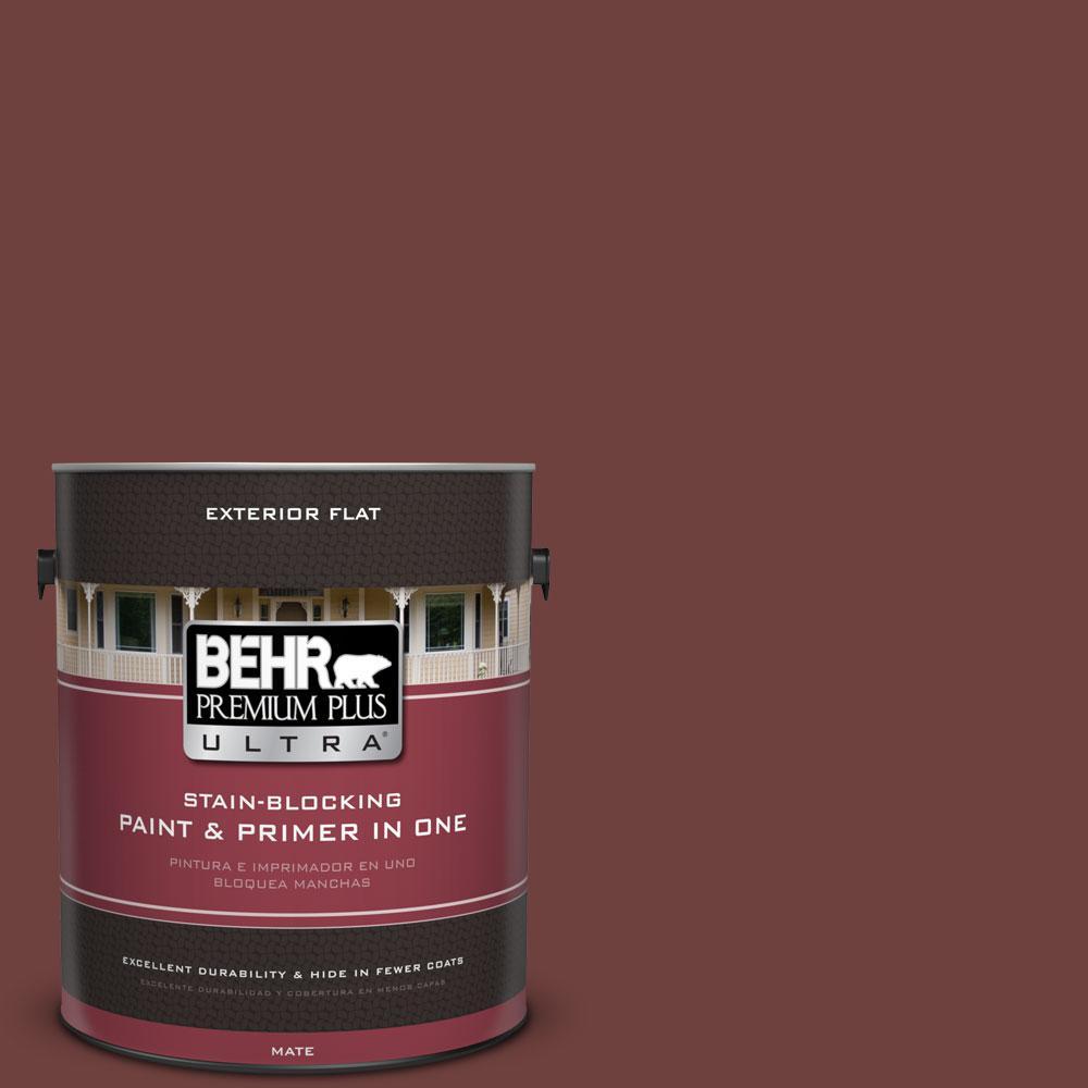 BEHR Premium Plus Ultra 1-gal. #S-G-710 Hawaiian Cinder Flat Exterior Paint