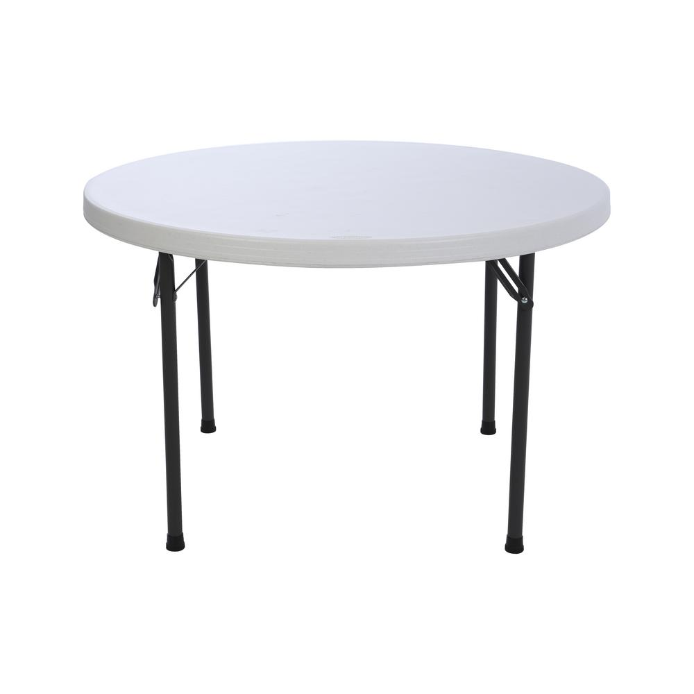 Round White Granite Commercial Folding Table