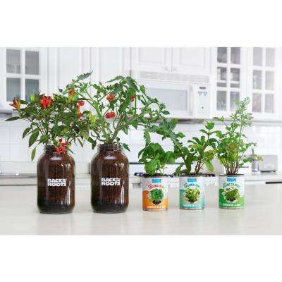 Complete Herbs and Veggies Windowsill Grow Kit with Grow Light