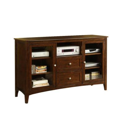 Lancaster Dark Walnut Entertainment Center