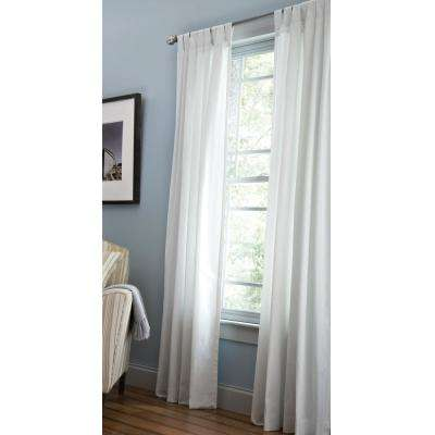 Cotton Duck Light Filtering Window Panel in White - 42 in. W x 95 in. L