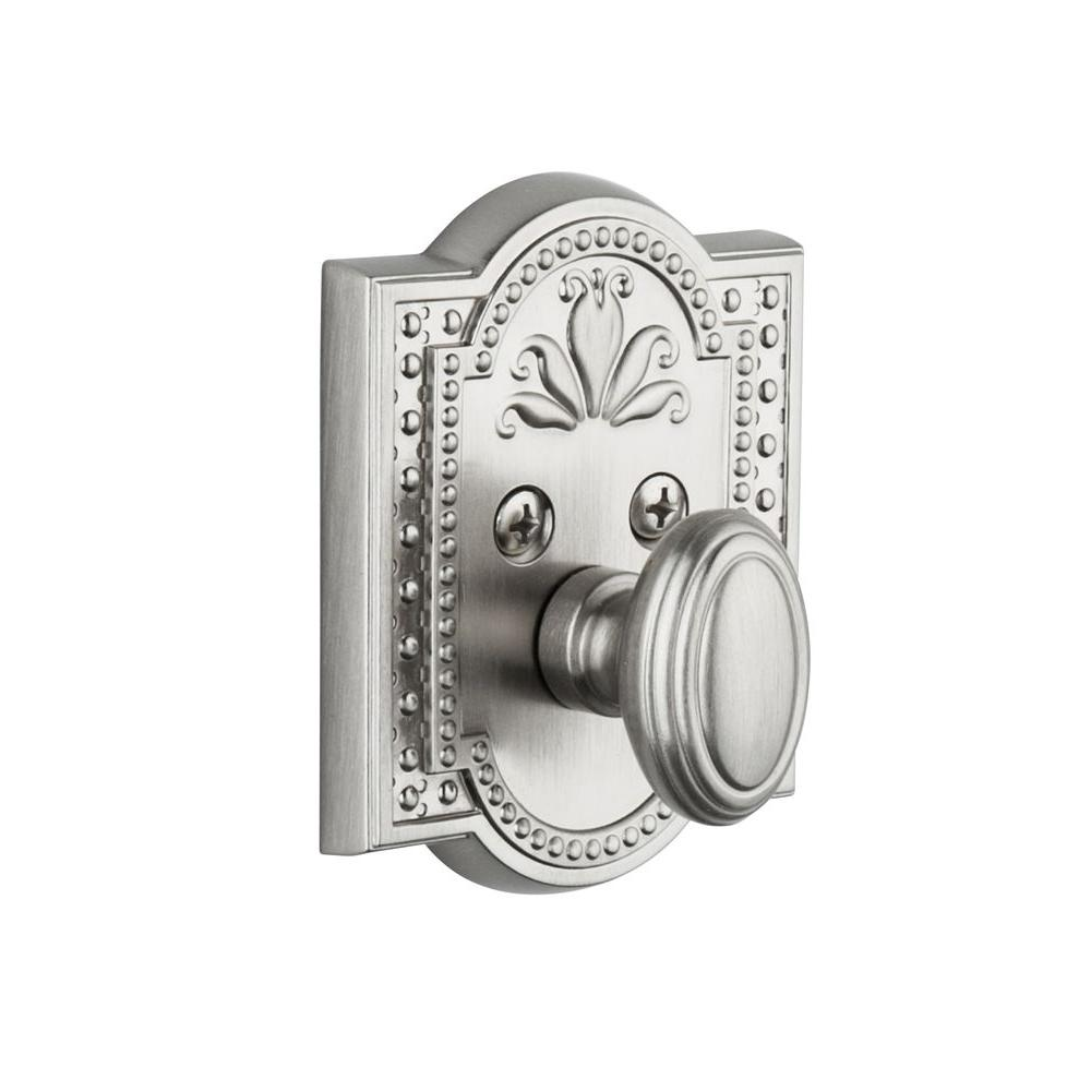 Nostalgic Warehouse Parthenon Satin Nickel Single Cylinder Deadbolt - Keyed Alike