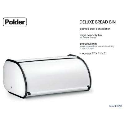 Deluxe Bread Bin in White