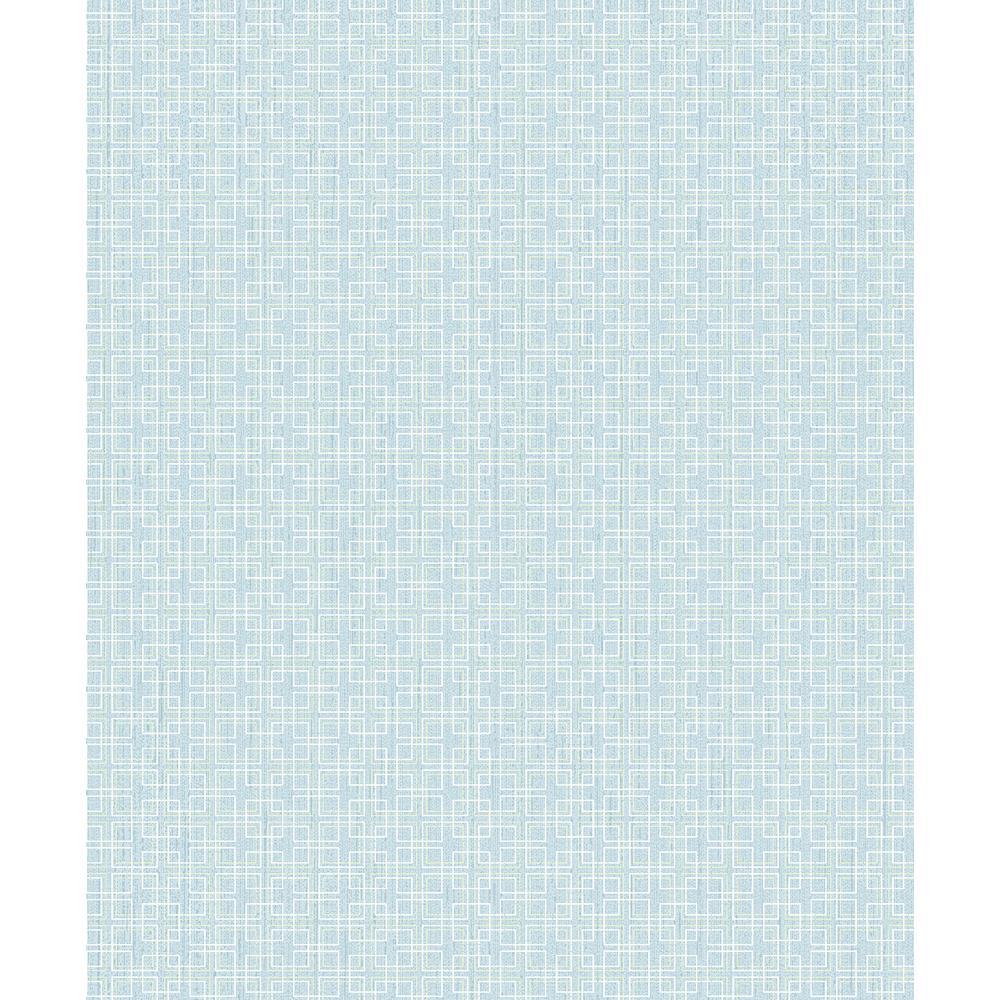 Advantage Garten Light Blue Geometric Wallpaper 2813-SA1-1102