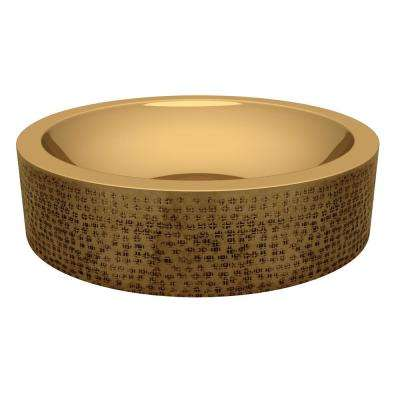 Balor 16 in. Handmade Vessel Sink in Polished Brass