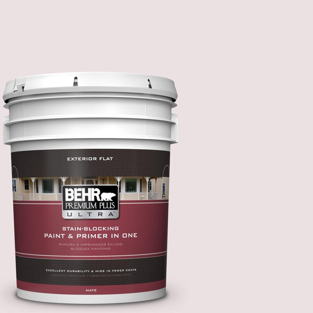 BEHR Premium Plus Ultra 5-gal. #130E-1 Glaze White Flat Exterior Paint