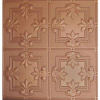dimensions 2 ft x 2 ft copper tin ceiling tile