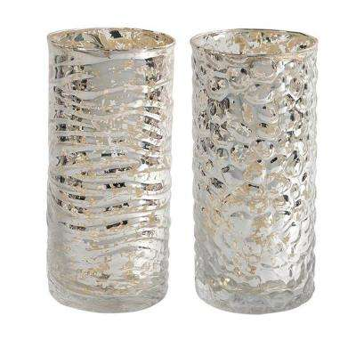 Evora 6.5 in. H Tall Mercury Glass Candle Holder (Set of 2)