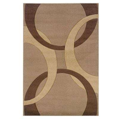 Corfu Collection Tan and Brown 2 ft. x 3 ft. Indoor Area Rug