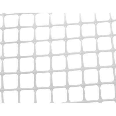 Heavy-Duty Outdoor Deck Netting 15 ft. Roll, Translucent White