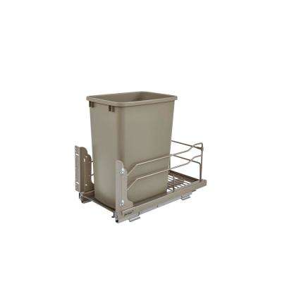 18.9375 in. H x 10.875 in. W x 22.25 in. D Single 35 Qt. Pull-Out Champagne Waste Container with Soft-Close Slides