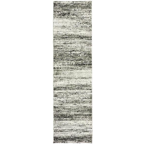 Unbranded Audrey Ash Charcoal 2 Ft X 8 Ft Abstract Runner Rug 001557 The Home Depot