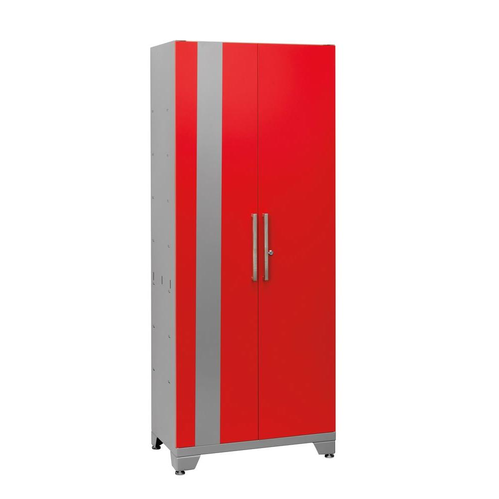 NewAge Products Performance 75 in. H x 30 in. W x 18 in. D 2-Door Steel Garage Cabinet in Red