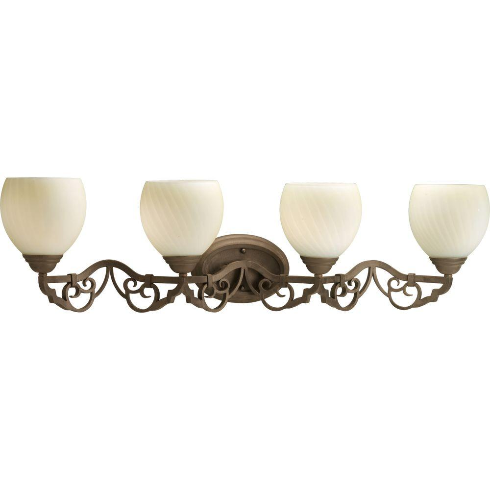 Thomasville Lighting Meeting Street Collection Roasted Java 4-light Vanity Fixture-DISCONTINUED