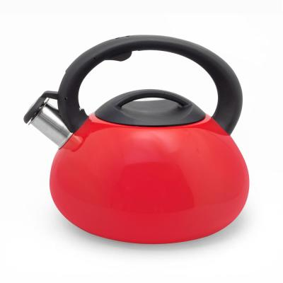 3 Qt. Red Stainless Steel Tea Kettle