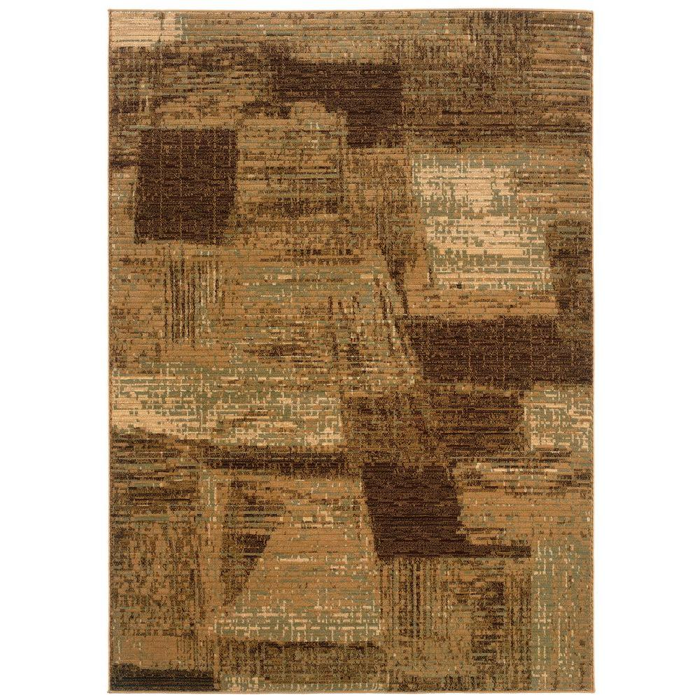 LR Resources Opulence Brown/Cream 7 ft. 9 in. x 9 ft. 10 in. Plush Indoor Area Rug