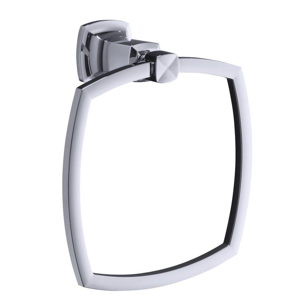 Margaux Towel Ring in Polished Chrome