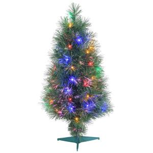 National Tree Company 36 In Fiber Optic Fireworks Tree With Ball  - 36 Fiber Optic Christmas Tree