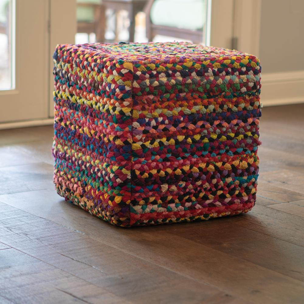 Denton Multi-Colored Cubical Pouffe