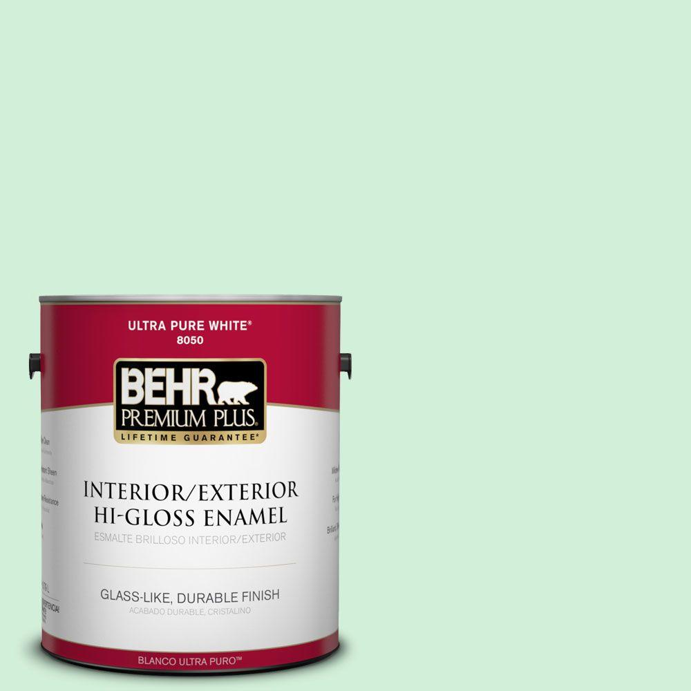 BEHR Premium Plus 1-gal. #460A-2 Tropical Dream Hi-Gloss Enamel Interior/Exterior Paint