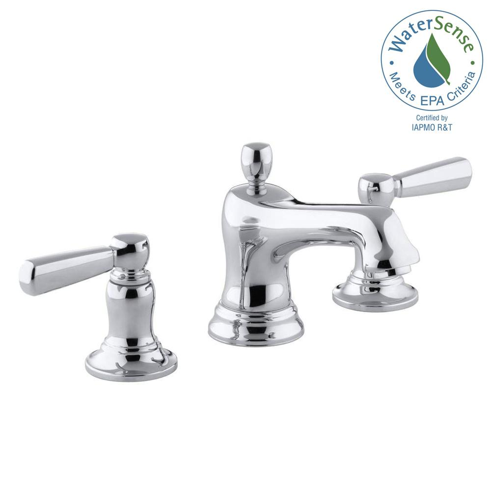 KOHLER Bancroft 8 in. Widespread 2-Handle Low-Arc Bathroom Faucet in Chrome