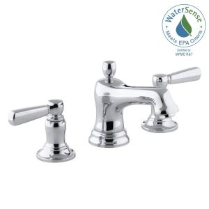 Bancroft 8 In. Widespread 2 Handle Low Arc Bathroom Faucet In Chrome
