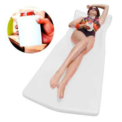 XX-Large Foam Mattress with Bonus Koozie White Pool Float