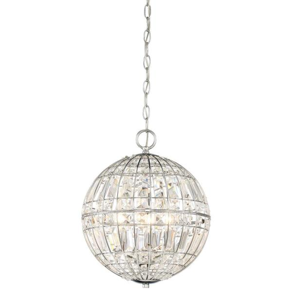 Palermo 4-Light Chrome Pendant