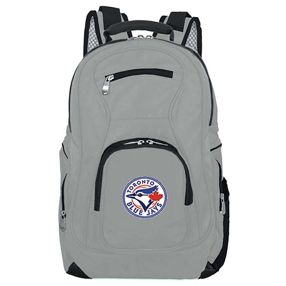 MLB Toronto Blue Jays 19 in. Gray Laptop Backpack