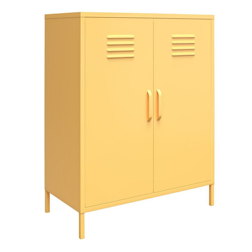 Cache Yellow 2-Door Metal Locker Storage Cabinet
