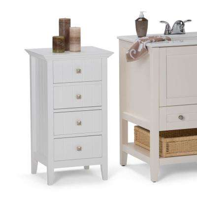 Acadian 18 in. W x 15.8 in. D x 32 in. H 4 Drawer Floor Cabinet in White