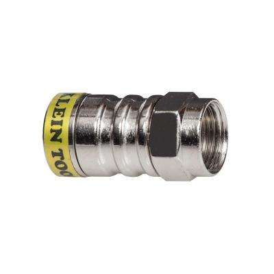 RG6/6Q F-Push-On Connector (10-Pack)