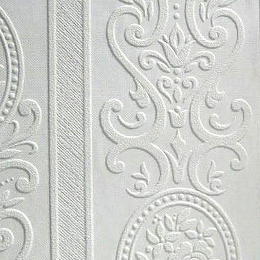 Exceptionnel Anaglypta Louisa Paintable Textured Vinyl Wallpaper Sample