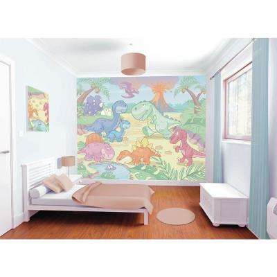 120 in. H x 96 in. W Baby Dino World Wall Mural