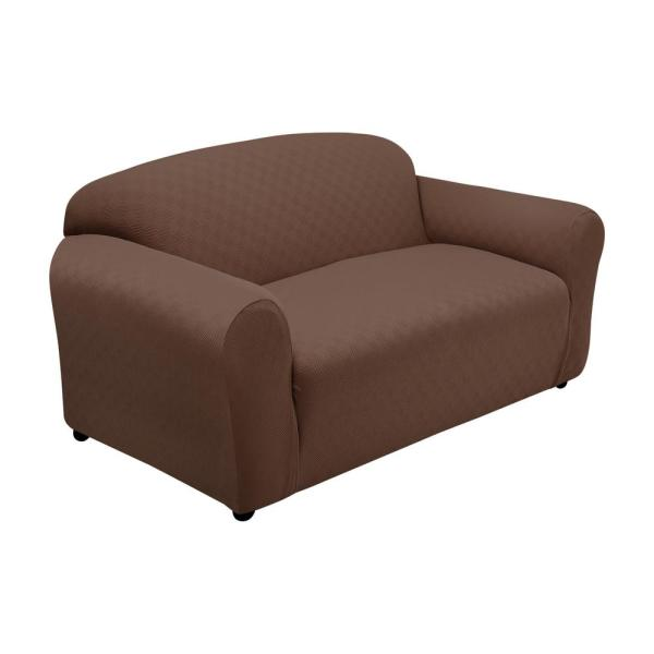 Cocoa Newport Sofa Stretch Slipcover