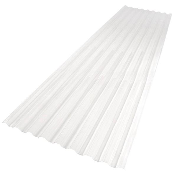 26 in. x 12 ft. Polycarbonate Roofing Panel in Clear